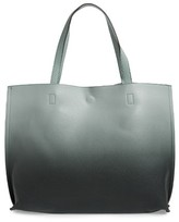 Street Level Reversible Faux Leather Tote - Green