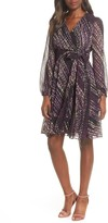 Maison Tara Long Sleeve Faux Wrap Dress