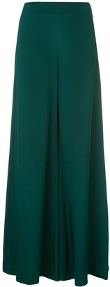 Adam Lippes Flared Crepe Trousers