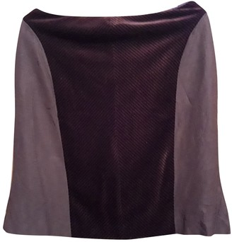 Christian Lacroix Burgundy Wool Skirt for Women Vintage