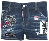 DSQUARED2 Cool Girls Patches Cotton-denim Shorts