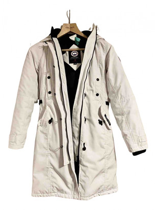 Canada Goose Kensington White Fur Coats
