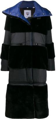 Rossignol x JCC JC de Castelbajac Wifi faux fur coat