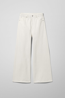 Weekday Ace High Wide Jeans - White