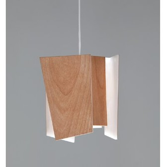 Levi's Cerno Levis L 1-Light Unique / Statement Geometric LED Pendant Cerno Shade Color: Beech Wood