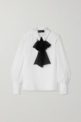 Nili Lotan Leni Pussy-bow Silk-georgette Blouse - White