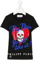 Philipp Plein Try Plein you'll like it studded T-shirt - kids - Cotton - 6 yrs