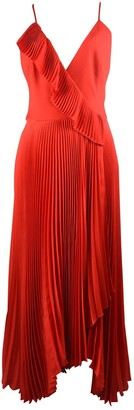Milly Red Silk Dress for Women