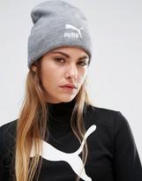 Puma Gray Knitted Beanie Hat