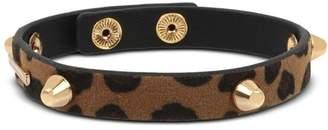 AllSaints Leather Studded Snap Bracelet