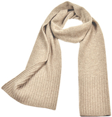 Ribbed End Cashmere Classic Scarf