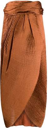 Romeo Gigli Pre-Owned 1990s pleated draped midi skirt