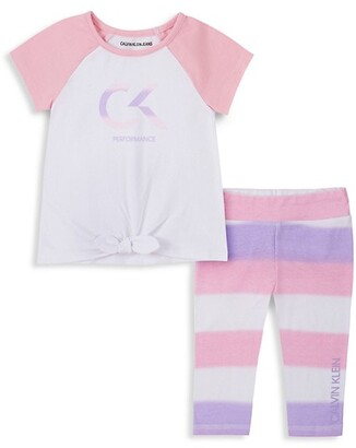 Two Piece Set for Baby Girl CashmereRamieLinenSilk Blend Pants with T-Shirt