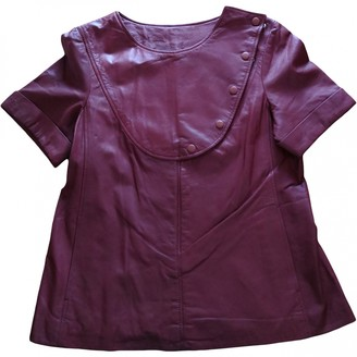 Raoul Camel Leather Top for Women