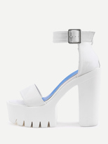Shein Two Part Platform High Heeled Sandals