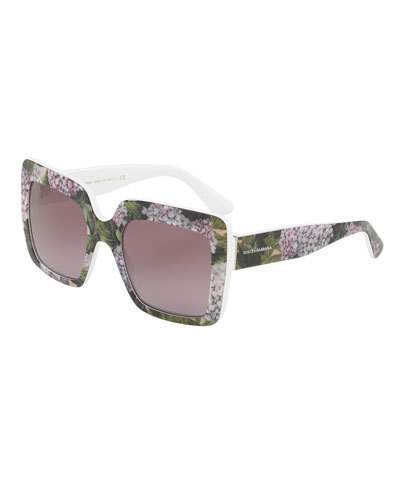Dolce & Gabbana Gradient Squared Cat-Eye Acetate Sunglasses