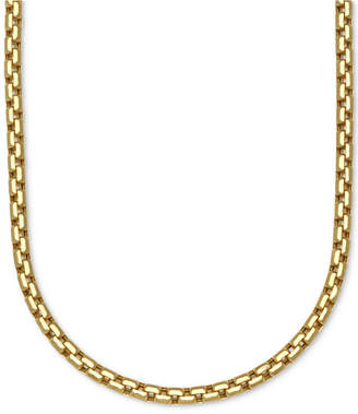 "Italian Gold Large Rounded Box-Link 22"" Chain Necklace (3-3/8mm) in 14k Gold"