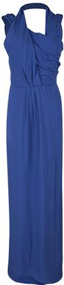 HUGO BOSS Boss By Blue Drape Detail Maxi Drapiella Dress L