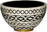 """Mela Artisans 14"""" Imperial Beauty Bowl - Black/White"""