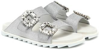 Roger Vivier Slidy 'Viv embellished glitter sandals
