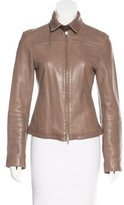 Joseph Leather Long Sleeve Jacket