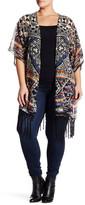 Angie Multicolor Fringe Kimono (Plus Size)