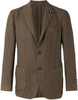 Lardini casual blazer - men - Hemp - 48