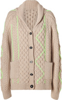 Suno Sand Shawl Collar Wool-Alapca Cardigan