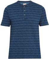 Faherty Striped cotton henley top