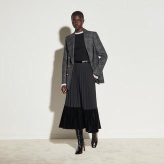 Sandro Long pleated wrapover skirt