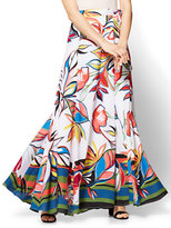 New York & Co. Maxi Skirt - Abstract Floral Print