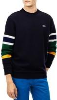 Lacoste Stripe Sleeve Ottoman Sweatshirt
