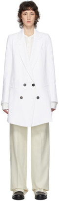 Ann Demeulemeester White Cotton and Linen Coat