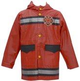 Wippette Little Boys Fire Department Motif Hooded Raincoat