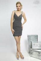 Jovani Stunning Ruched V-Neckline Fitted Cocktail Dress JVN98432