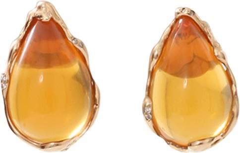 Lucifer Vir Honestus Fire Opal And Diamond Earrings