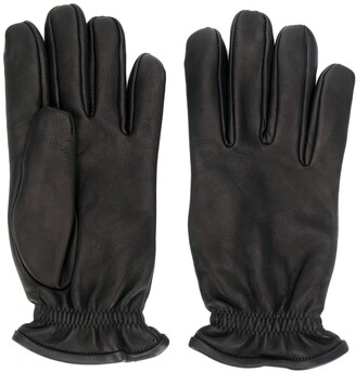 Orciani Pebbled Leather Gloves