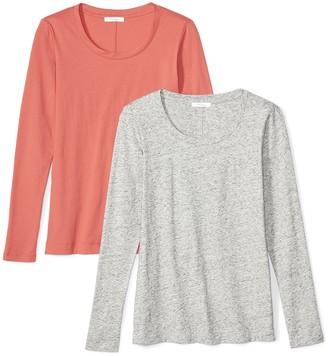 Daily Ritual Amazon Brand Women's Lightweight 100% Supima Cotton Long-Sleeve Scoop Neck T-Shirt