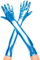 Music Legs Women's Extra Long Metallic Gloves