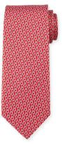 Salvatore Ferragamo Interlocking Gancini Silk Tie, Red