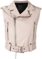 Giuseppe Zanotti Design Amelia sleeveless biker jacket - women - Leather/Polyester - S
