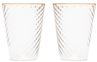 Campbell Rey Campbell-rey - X Laguna B Set Of Two Cosima Highball Glasses - Orange Multi