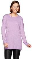 Denim & Co. As Is Scoop Neck Drop Shoulder Long Sleeve Sweater