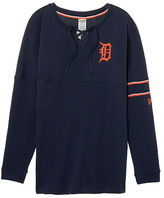 PINK Detroit Tigers Bling Lace-up Varsity Crew