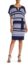 Sangria Printed Blouson Dress