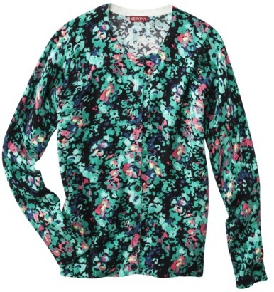 Merona Women's Ultimate Cardigan Sweater - Navy Floral