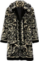 Anna Sui Paisley Park Faux Fur Coat