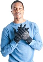 Muk Luks Men's Nordic Pattern Gloves with Texting Thumb and Fingers - Black
