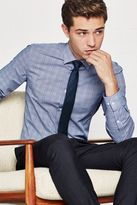 Blue Check Shirt And Tie Set