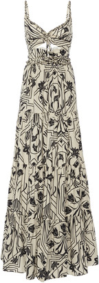Johanna Ortiz Floral Architecture Printed Cotton Maxi Dress